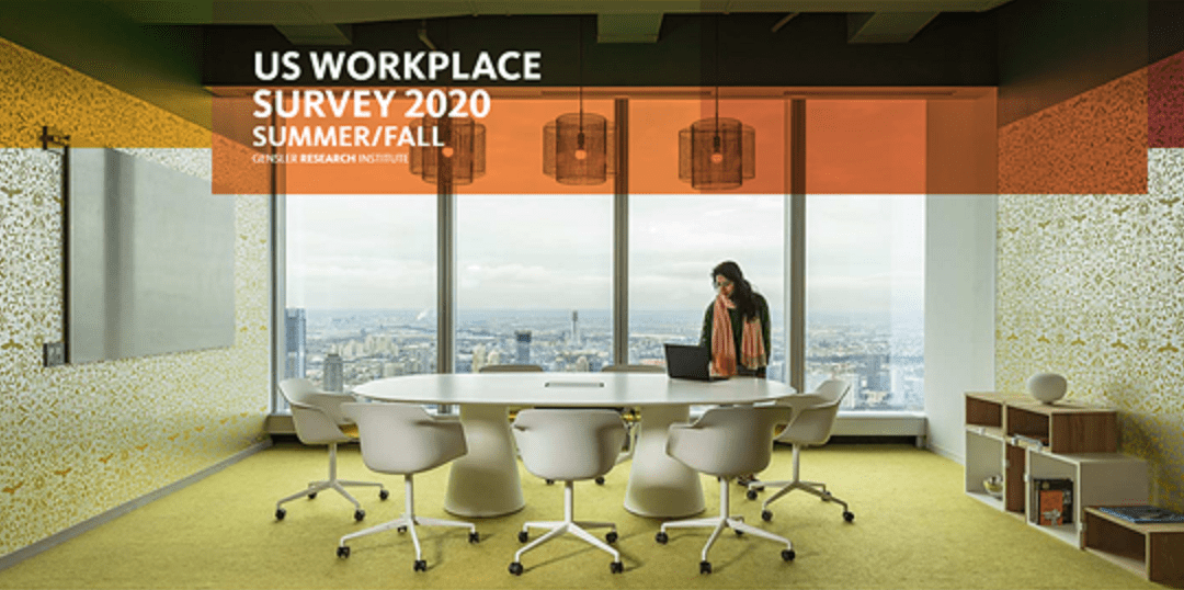 US WORKPLACE SURVEY 2020 SUMMER/FALL – Source: Gensler Research Institute